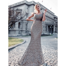 Daizy grå fest kjole