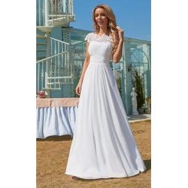 Aurelia brudekjole med blonde og flot ryg